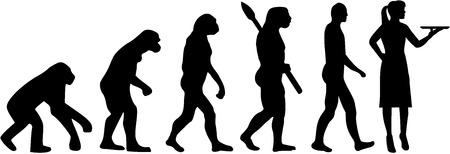 barmaid: Waitress evolution Illustration