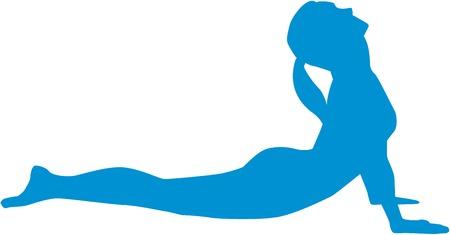 bhujangasana: Yoga sun salutation - Position bhujangasana