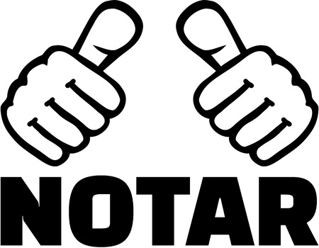 notary: Notary with thumbs. German T-Shirt design