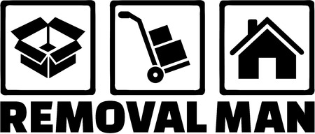 removal: Removal man icons Illustration