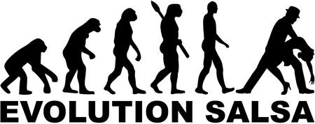 bailando salsa: Evolution salsa dancing
