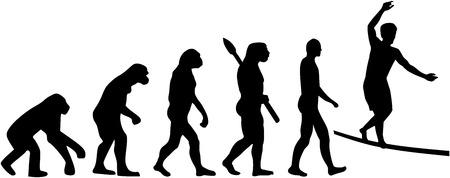 tightrope walker: Slackline evolution Illustration