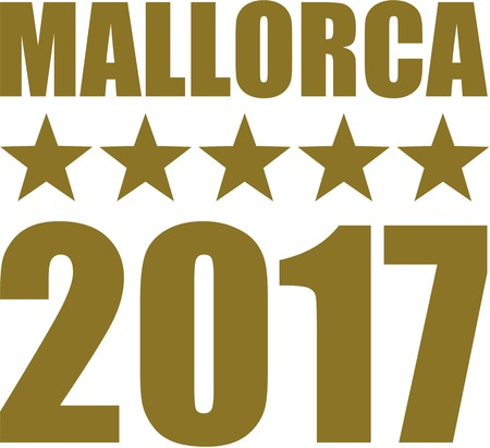 majorca: Mallorca 2017 with five golden stars Illustration