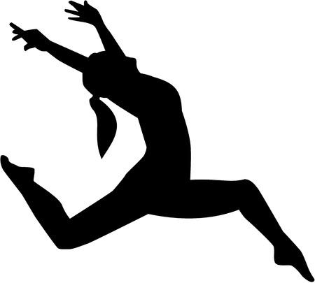 jazz dancer: Jazz dancer woman