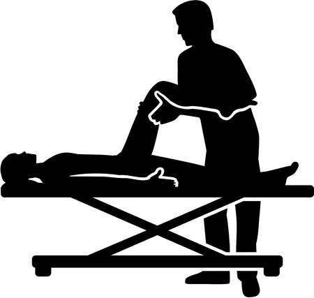 Physical therapist silhouette