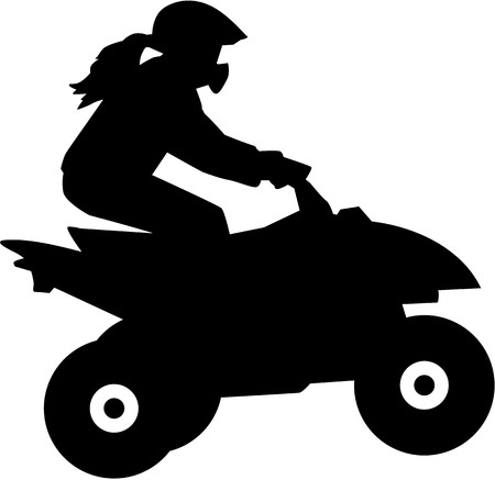 dirt bike: Female Quad driver