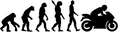 Motorbike evolution Illustration