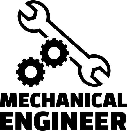 Ingénieur en mécanique avec des roues dentées et la clé