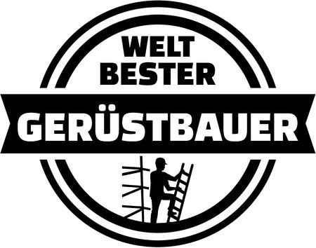 scaffolder: Worlds best scaffolder german button