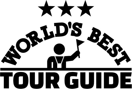 guia turistico: Worlds best Tour guide Vectores