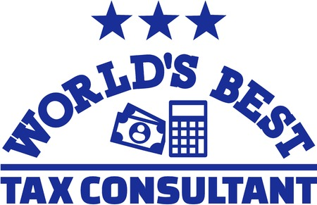 financial advisors: Worlds best tax consultant Illustration