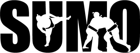 cutouts: Sumo word with cutouts