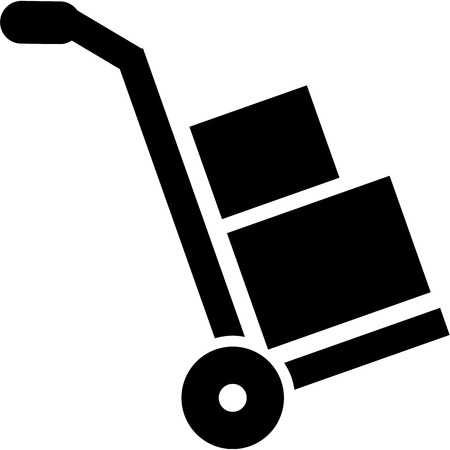 sack truck: Hand truck icon - sack barrow