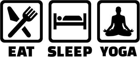 salutation: Eat, sleep and do Yoga Illustration