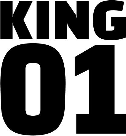 01: King 01. Couple T-Shirt design.