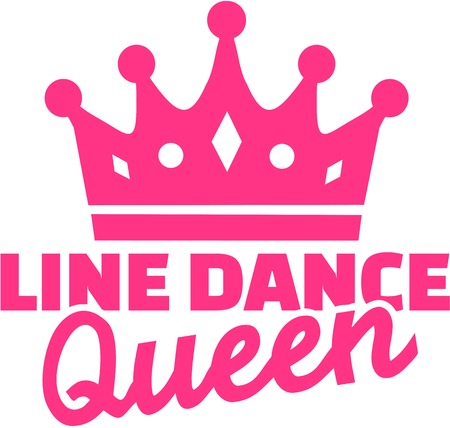 Line dance queen Illustration
