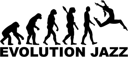 Evolution jazz dansen Stock Illustratie