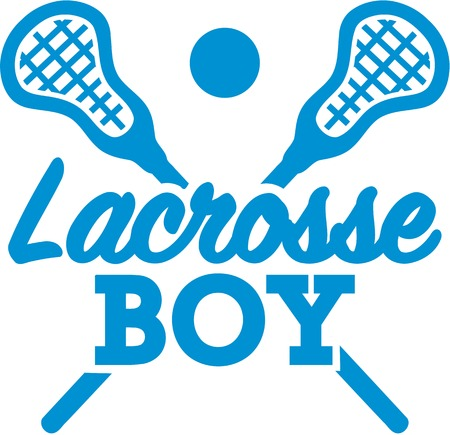 Lacrosse Boy Illustration