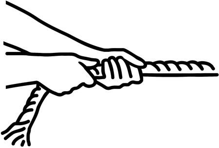 Hands trekkoord - touwtrekken