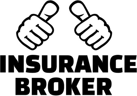 agente comercial: Insurance broker with thumbs. T-Shirt design