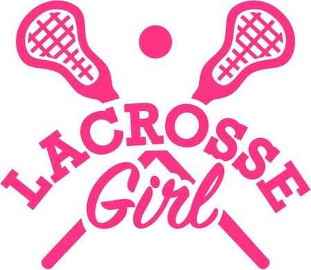 crosse: Lacrosse Girl Illustration