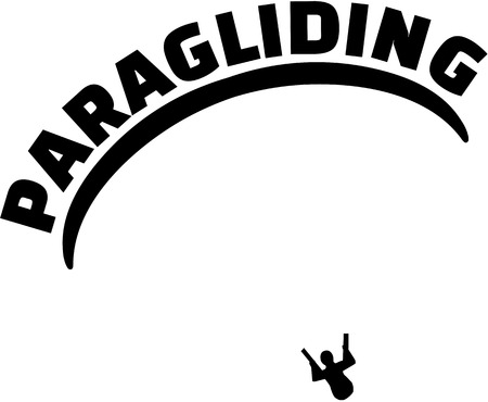 airplay: Paragliding with silhouette
