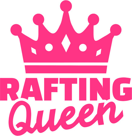 Rafting queen with crown Illustration