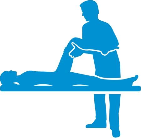 silueta de la terapia física Ilustración de vector