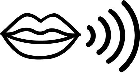 Usta mówiące ikona Ilustracje wektorowe