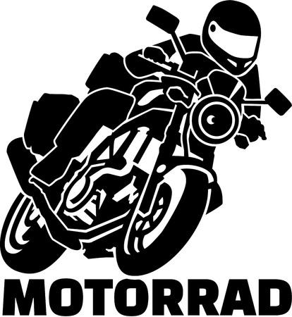 バイカーとドイツ語の単語の Motobike