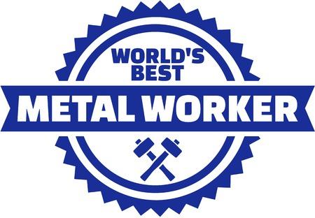 Worlds best Metal worker button