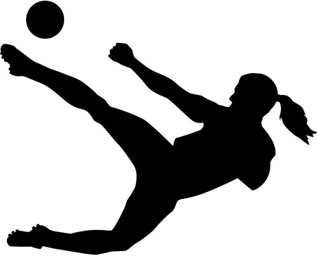 Female soccer player woman