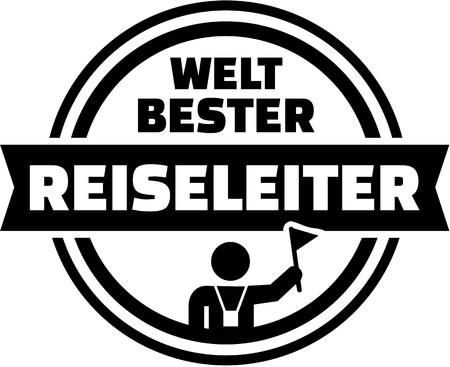 guia de turismo: El mejor botón del alemán guía turístico del mundo Vectores