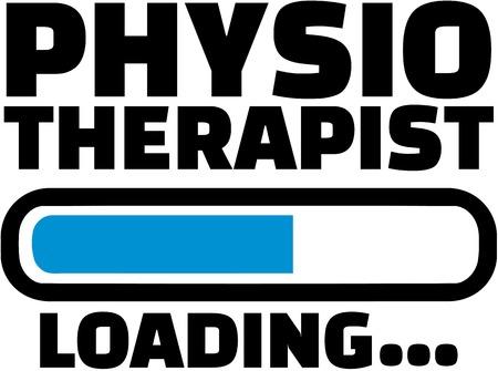 physiotherapist: Physiotherapist is Loading Illustration