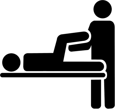 Physiotherapy icon Illustration