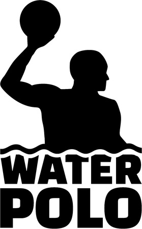 Water polo player with title Illustration