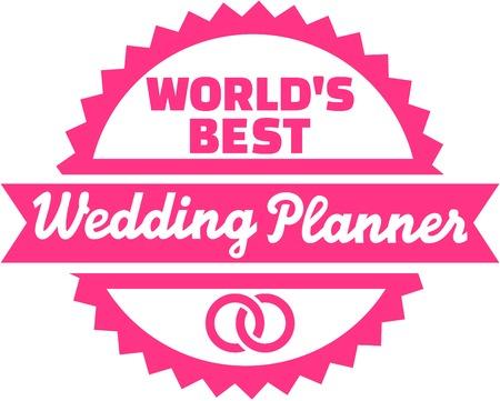 Worlds Best Wedding Planner Button Stock Vector