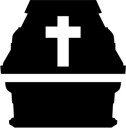 Casket with cross Illustration