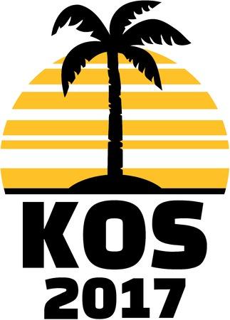 kos: Kos 2017 - Palm and sun