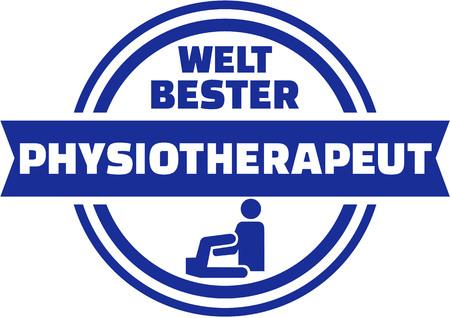 physiotherapist: Worlds best Physiotherapist german button