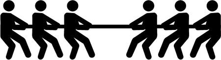 Simbolo del tiro alla fune Vettoriali