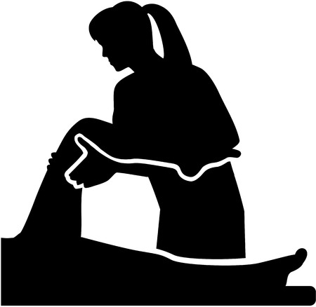 physiotherapist: Female physical therapist with patient