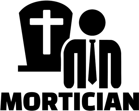 Mortician icon with job title