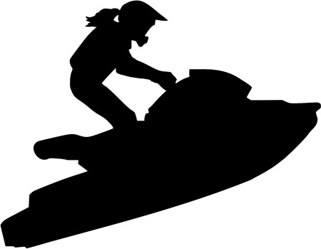 Jet ski woman Illustration
