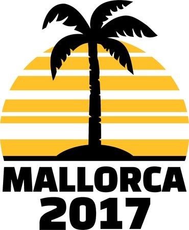 Mallorca 2017 with palm and sun