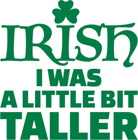 poco: Irlandés era un poco más alto - día del St. Patricks que dice Vectores