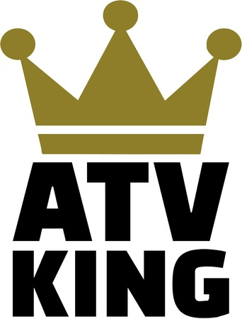 dirt bike: ATV King with crown