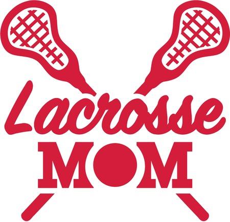 Lacrosse Mom Illustration