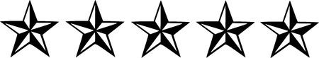 nautic: Five black nautic stars