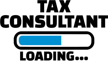 financial consultant: Tax consultant Loading Illustration